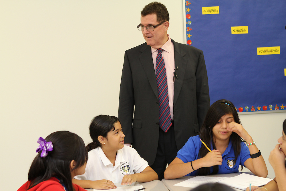 HISD First day of school August 27, 2012 at Billy Reagan K-8.
