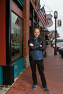 Actor John Benjamin Hickey in downtown Plano, Texas on Thursday, Jan. 21, 2016. Hickey was raised in Plano and attended Plano High School. (Photo by Kevin Bartram)