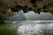 Dark and Bright Lagoon, Halong Bay, Vietnam, Asia