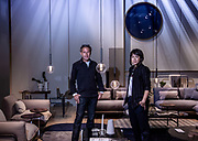 Milano , design week 2019, Rolf Benz, Werner Aisslinger and his assistant