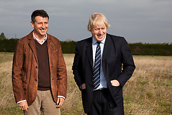 "© Licensed to London News Pictures. 23/02/2012. Wallington, Surrey. L-R: Seb Coe and Boris Johnson. The Mayor of London, Boris Johnson and LOCOG Chairman Sebastian Coe today, 23 February 2012, showed off the benefits of urban food growing as they launched ""The Big Dig"" volunteer gardening weekend (16-17 March). This is all in support of Capital Growth, a scheme to create 2,012 community food growing spaces by the end of 2012.  Photo credit: Bettina Strenske/LNP"
