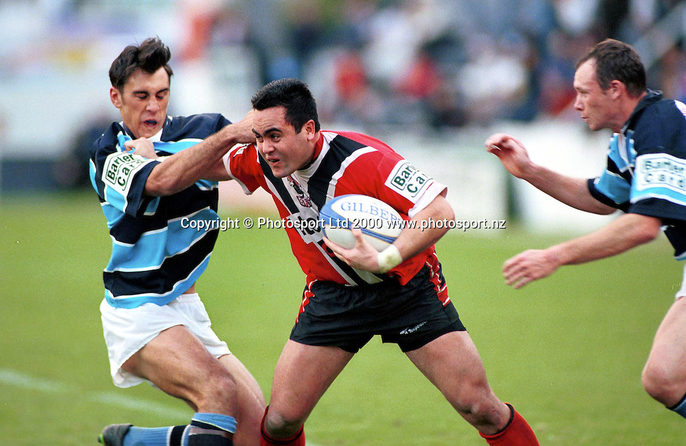 Shaun Norton in action for Canterbury - Bartercard Cup Rugby League Grand Final 2000, Canterbury Bulls v Otahuhu Leopards. Canterbury Bulls won 38-24. Photo: Sandra Teddy/Photosport.co.nz