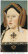 Catherine of Aragon (1485-1536) queen of England, first wife of Henry VIII, mother of Mary I. Marriage annulled 1533.