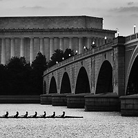 Rowers on the Potomac. CREDIT: J. David Ake