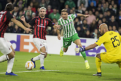 November 8, 2018 - Seville, Spain - JOAQUIN of Betis (C) shoots during the Europa League Group F soccer match between Real Betis and AC Milan at the Benito Villamarin Stadium (Credit Image: © Daniel Gonzalez Acuna/ZUMA Wire)