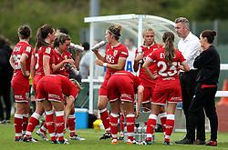 Willie Kirk manager of Bristol City Women talks to his players - Mandatory by-line: Robbie Stephenson/JMP - 25/06/2016 - FOOTBALL - Stoke Gifford Stadium - Bristol, England - Bristol City Women v Oxford United Women - FA Women's Super League 2