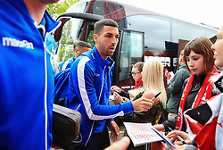Liam Sercombe of Bristol Rovers signs autographs for fans outside Highbury Stadium - Mandatory by-line: Matt McNulty/JMP - 27/04/2019 - FOOTBALL - Highbury Stadium - Fleetwood, England - Fleetwood Town v Bristol Rovers - Sky Bet League One