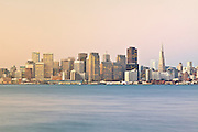 City of San Francisco skyline early in the morning. Long exposure