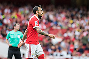 Benfica forward Kostas Mitroglou (11) during the Emirates Cup 2017 match between Leipzig and Benfica at the Emirates Stadium, London, England on 30 July 2017. Photo by Sebastian Frej.
