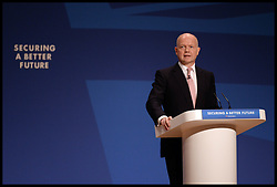 Image ©Licensed to i-Images Picture Agency. 28/09/2014. Birmingham, United Kingdom. Leader of the House of Commons William Hague during his last speech to the  Conservative Party Conference.Picture by Andrew Parsons / i-Images