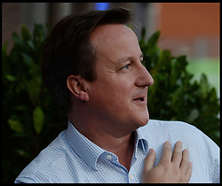 The Prime Minister David Cameron arrives at the Conservative Party Conference hotel for the start of the Conservative Party Autumn Conference in Manchester, United Kingdom. Saturday, 28th September 2013. Picture by Andrew Parsons / i-Images