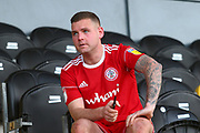 Accrington Stanley forward Billy Kee (29) after the final whistle during the EFL Sky Bet League 1 match between Burton Albion and Accrington Stanley at the Pirelli Stadium, Burton upon Trent, England on 23 March 2019.