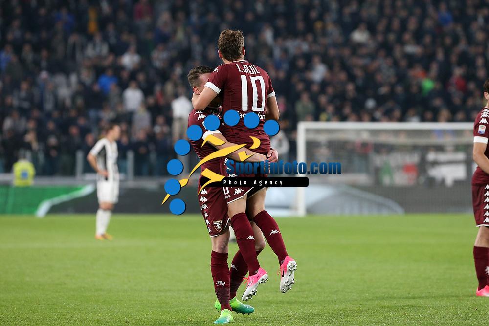 06.05.2017 - Torino - Serie A 2016/17 - 35a giornata  -  Juventus-Torino  nella  foto: Adem Ljajic e Andrea Belotti  esultano dopo il gol dell '1 a 0