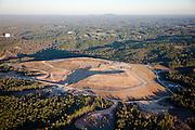 Landfill mound in Atlanta, Georgia.