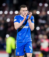 Football - 2019 / 2020 William Hill Scottish Cup - Quarter-Final: Heart of Midlothian vs. Rangers<br /> <br /> George Edmundson of Rangers at full time, at Tynecastle Park, Edinburgh.<br /> <br /> COLORSPORT/BRUCE WHITE