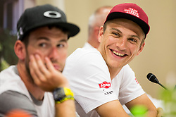 Mark Cavendish and Marcel Kittel during press conference of 25th Tour de Slovenie 2018 cycling race, on June 12, 2018 in Hotel Livada, Moravske Toplice, Slovenia. Photo by Vid Ponikvar / Sportida