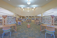 Maryland Architectural Interior Design Photographer Jeffrey Sauers of Commercial Photographics Image of Harford County Public Library Whitford Branch interior for Mullan Contracting Company and Lawrence Howard and Associates