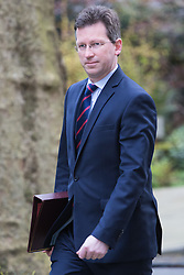 Downing Street, London, April 19th 2016. Attorney General Jeremy Wright arrives at Downing Street for the weekly cabinet meeting.