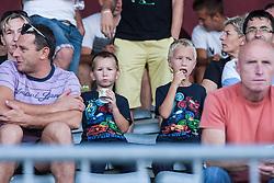Spectators during football match between NK Triglav Kranj and NK Maribor, 7th Round of Prva Liga, on 24 August, 2013, in Sportni center Kranj, Slovenia. (Photo by Grega Valancic / Sportida)