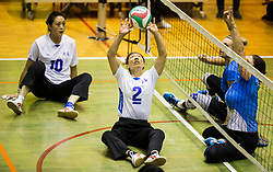 Lyu Honggin of China during friendly Sitting Volleyball match between National teams of Slovenia and China, on October 22, 2017 in Sempeter pri Zalcu, Slovenia. (Photo by Vid Ponikvar / Sportida)