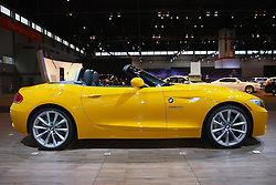 08 February 2012: 2012 BMW Z4 ROADSTER: The classic roadster is back – more powerful and more stylish than ever before, and on display at the 104th Annual Chicago Auto Show. If you guessed the 2012 BMW Z4, you're correct. Notably, it is the only car in its segment that combines classic roadster proportions with a seating position near the rear axle, rear-wheel drive, and a retractable hardtop. Starting this model year, the BMW Z4 is offered in the US with one newly introduced 2.0-liter turbo four-cylinder in the Z4 sDrive28i that delivers 335 horsepower and 332 lb. ft. of torque. To ensure truly outstanding acceleration and response at all times, there are two versions of the twin-turbo 3.0L inline six-cylinder engines – 300hp/300lb.ft in the Z4 sDrive35i and 335hp/332lb.ft. of torque in the sDrive35is. Depending on the powerplant, a six-speed manual gearbox and seven- or eight-speed automatic transmissions are to be had. All Z4 models enjoy a two-place cockpit and power-retractable hardtop standard. Minor tweaks for 2012 include making the automatic transmission a no-charge option on the 30i, and the Double Clutch Transmission price has been lowered on the 35i. Chicago Auto Show, Chicago Automobile Trade Association (CATA), McCormick Place, Chicago Illinois
