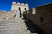 The ancient Great Wall of China at Mutianyu, north of Beijing (formerly Peking), China