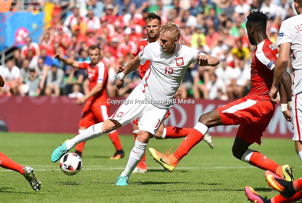 2016.06.25 Saint-Etienne<br /> Pilka nozna Euro 2016<br /> mecz 1/8 finalu Szwajcaria - Polska<br /> N/z Kamil Glik<br /> Foto Lukasz Laskowski / PressFocus<br /> <br /> 2016.06.25<br /> Football UEFA Euro 2016 <br /> Round of 16 game between Switzerland and Poland<br /> Kamil Glik<br /> Credit: Lukasz Laskowski / PressFocus