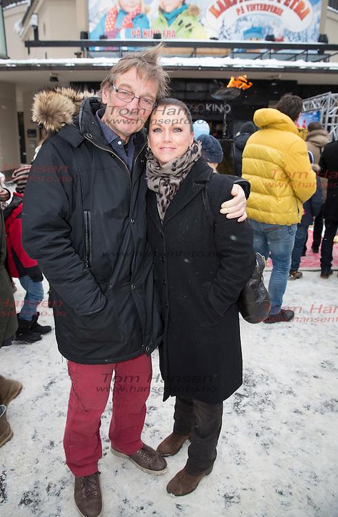 OSLO,  20140119: Premiere på den norske filmsuksessen Karsten og Petra på Colosseum kino i Oslo. Arne Lindtner Næss  og Hilde Lyrån.  FOTO: TOM HANSEN