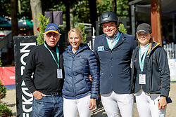 SCHOCKEMÖHLE Paul, WAGERS jana (GER), KREUZER Andreas (GER), HUEP Lisa (GER)<br /> Paderborn - OWL Challenge 5. Etappe BEMER Riders Tour 2019<br /> Impressionen am Rande<br /> Parcourbesichtigung<br /> 14. September 2019<br /> © www.sportfotos-lafrentz.de/Stefan Lafrentz