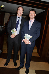 Left to right, NICK ANDJEL and JOE McLOUGHIN at a party to celebrate Ben Goldsmith guest-editing the July/August 2013 edition of Spears Magazine held at 45 Park Lane, London on 19th June 2013.