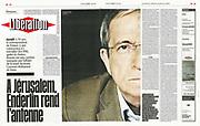 Charles Enderlin/ reporter et journaliste francais et israelien. Paris/ FRANCE-12/03/08<br /> Ref: 558705_000014