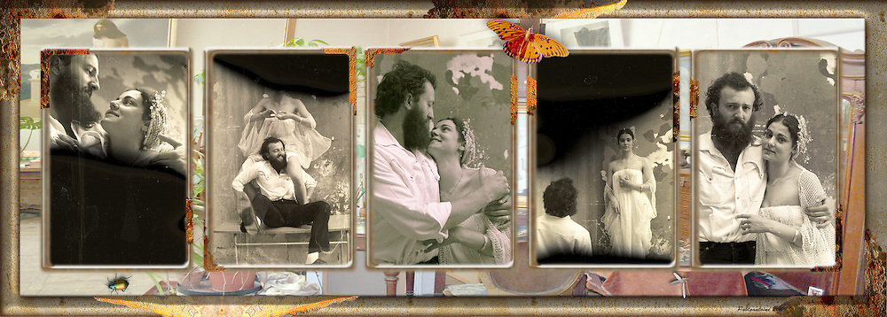 Wedding Of Maia and Claude, 1983 Collage, composited in a 3D Lenticular