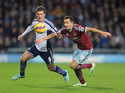 West Bromwich Albion's Craig Gardner jostles for the ball with West Ham's Stewart Downing - Photo mandatory by-line: Dougie Allward/JMP - Mobile: 07966 386802 - 02/12/2014 - SPORT - Football - West Bromwich - The Hawthorns - West Bromwich Albion v West Ham United - Barclays Premier League