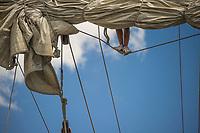 Tall Ships Boston at Fan Pier Marina and sailing aboard the Schooner Alert.  ©2017 Karen Bobotas Photographer