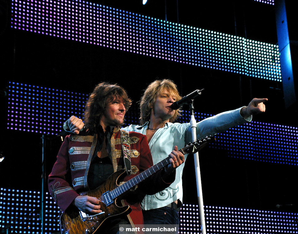 Jon Bon Jovi and Richie Sambora performs live in Concert at Chicago's Tweeter Center.