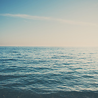 The blue ocean off the coast of Nice, France