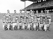 Neg No:.573/7856-7864...15081954AISFCSF...15.08.1954, 08.15.1954, 15th August 1954...All Ireland Senior Football Championship - Semi-Final..Kerry.2-6.Galway.1-6..Kerry Team.G. O'Mahony, J. M. Palmer, E. Roche, D. Murphy, Sean Murphy, J. Cronin, C. Kennelly, John Dowling (Captain), T. Moriarty, R. Buckley, J. J. Sheehan, P. Sheehy, J. Brosnan, S. Kelly, T. Lyne. .John Dowling (Captain).