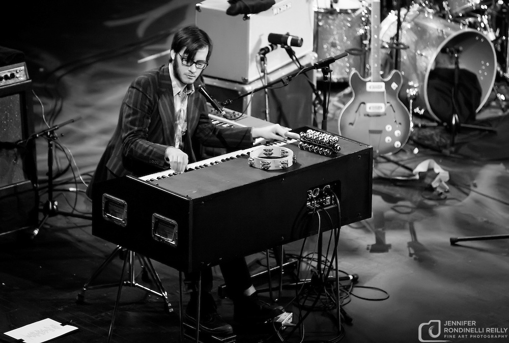 Ben Tanner on keyboards for Alabama Shakes live at The Riverside Theater in Milwaukee on 11/30/12. Photo © 2012  Jennifer Rondinelli Reilly. All Rights Reserved. No use without permission. Contact me for any reuse or licensing inquiries.