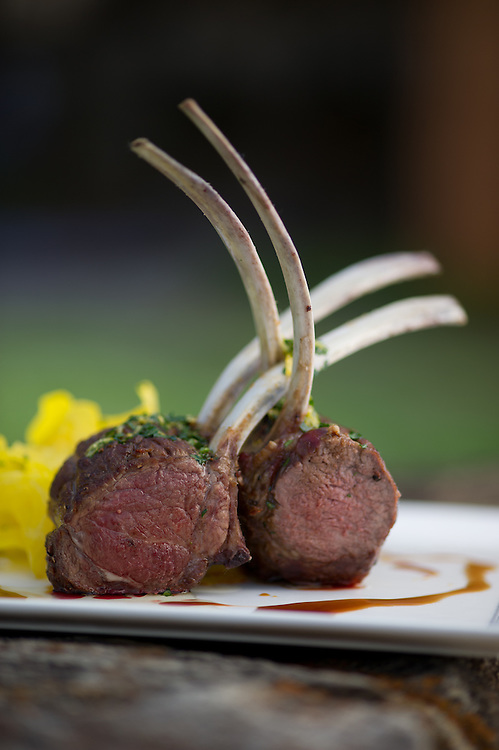 Dishing up Virginia<br /> Boars Head Inn - rack of lamb