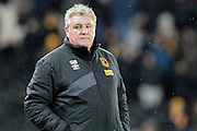 Steve Bruce (Hull City) during the Sky Bet Championship match between Hull City and Cardiff City at the KC Stadium, Kingston upon Hull, England on 13 January 2016. Photo by Mark P Doherty.
