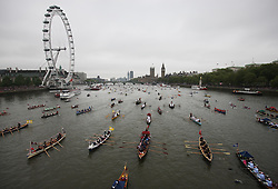 The Thames Diamond Jubilee Pageant in London, Sunday 3rd  June 2012.  Photo by: Stephen Lock / i-Images