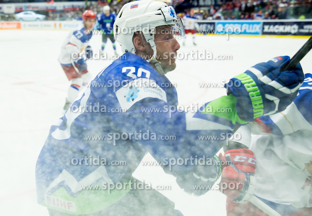 Jan Mursak of Slovenia during Ice Hockey match between Russia and Slovenia at Day 3 in Group B of 2015 IIHF World Championship, on May 3, 2015 in CEZ Arena, Ostrava, Czech Republic. Photo by Vid Ponikvar / Sportida
