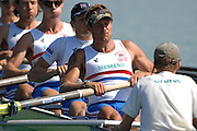 Munich, GERMANY, Saturday 25.08.2007, GB Rowing's Men {GBR M8+}  Eight stroked by Alastair HEATHCOTE, practising on the Munich Olympic Regatta Course, venue for 2007 World Rowing Championship starting Sunday 26.08.2007  25/08/2007 [Mandatory Credit. Peter Spurrier/Intersport Images]..... , Rowing Course, Olympic Regatta Rowing Course, Munich, GERMANY