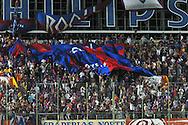 06.02.2003, Estadio de los Defensores del Chaco, Asunci--n, Paraguay..Copa Libertadores de Am?rica 2003, Group 2..Cerro Porte-o (Paraguay) v Universidad Cat--lica (Chile)..Cerro Porte-o fans with a giant number 12 shirt.©Juha Tamminen