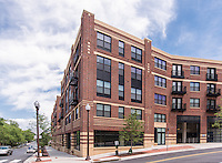 1919 Clarendon Apts retail exterior image in Arlington VA by Jeffrey Sauers of Commercial Photographics, Architectural Photo Artistry in Washington DC, Virginia to Florida and PA to New England