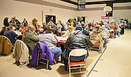 About 200 people were served a full Christmas meal during the HD Center Christmas party at Metro High School, 1212 7th St. SE in Cedar Rapids on Saturday, December 22, 2012. About 60 volunteers helped at the event.