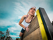 Alex Roudayna, Chikorita, performing in the obstacle race track at Ectagono fitness center in Mexico City on February 16, 2017