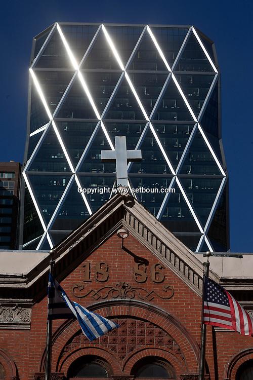 New york midtown Hearst tower, Foster building , Manhattan - United states