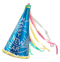 new years eve blue party hat