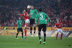 01.12.2012, Coface Arena, Mainz, GER, 1. FBL, 1. FSV Mainz 05 vs Hannover 96, 15. Runde, im Bild v.l.: Adam Szalai (MZ) gegen Marioi Eggimann (H96) // during the German Bundesliga 15th round match between 1. FSV Mainz 05 and Hannover 96 at the Coface Arena, Mainz, Germany on 2012/12/01. EXPA Pictures © 2012, PhotoCredit: EXPA/ Eibner/ Matthias Neurohr..***** ATTENTION - OUT OF GER *****